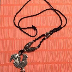 Silver Chicken Necklace
